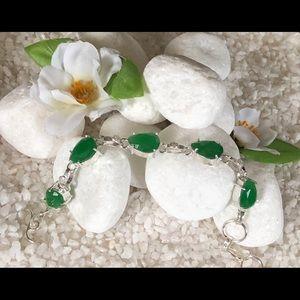 Jewelry - 🛍FACETED NATURAL SAKOTA MINE EMERALD BRACELET🛍
